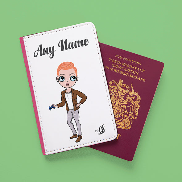 MrCB White Passport Cover - Image 4