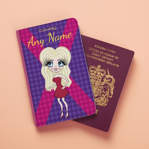 ClaireaBella Scottish Tartan Passport Cover - Image 1