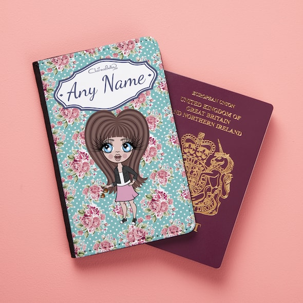 ClaireaBella Girls Rose Passport Cover - Image 1