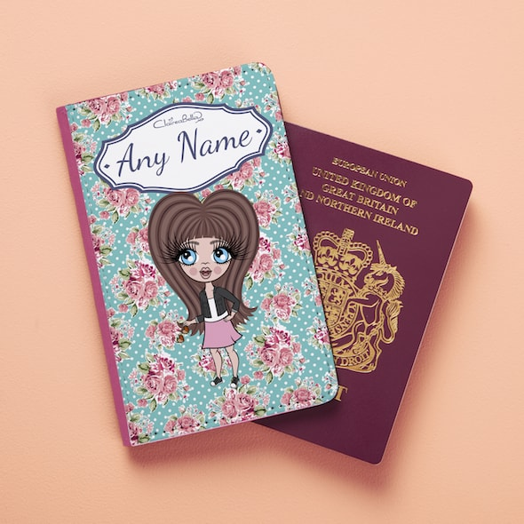 ClaireaBella Girls Rose Passport Cover - Image 4