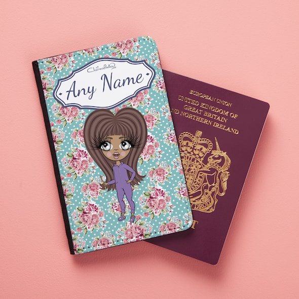 ClaireaBella Girls Rose Passport Cover - Image 2