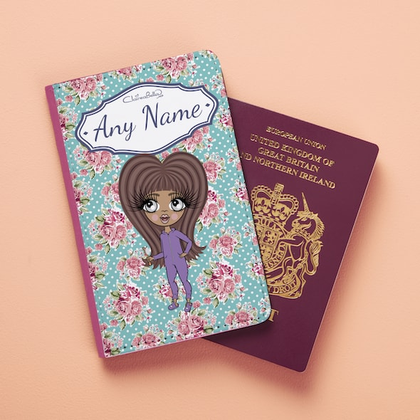ClaireaBella Girls Rose Passport Cover - Image 3