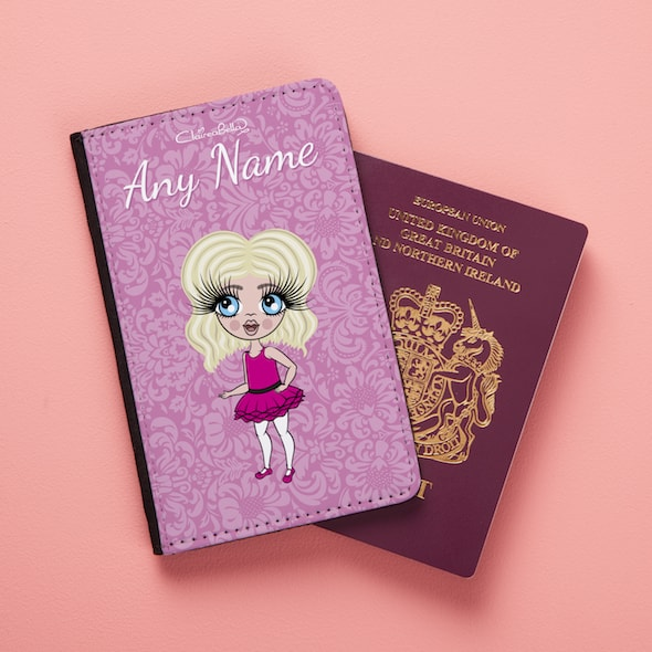 ClaireaBella Girls Lilac Floral Passport Cover - Image 1