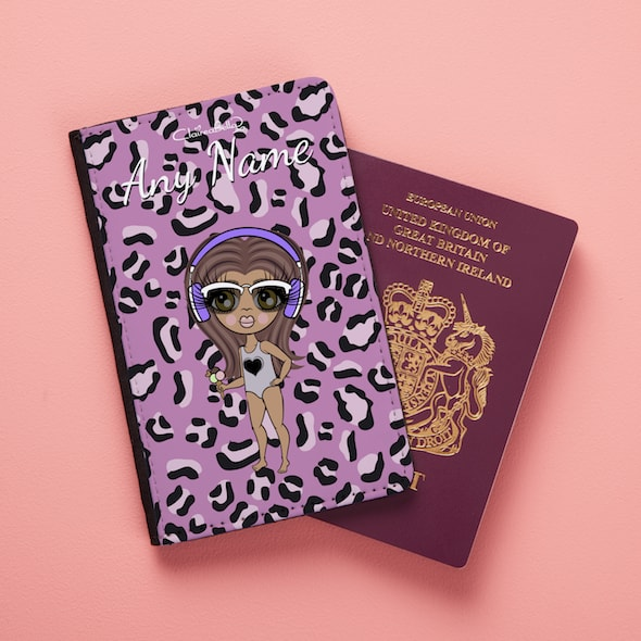 ClaireaBella Girls Lilac Floral Passport Cover - Image 3