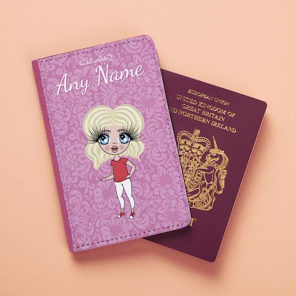 ClaireaBella Girls Lilac Floral Passport Cover - Image 4