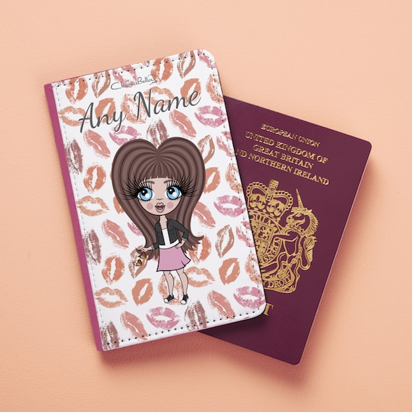 ClaireaBella Girls Lip Print Passport Cover - Image 1