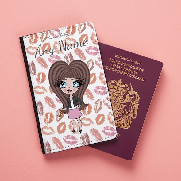 ClaireaBella Girls Lip Print Passport Cover - Image 4