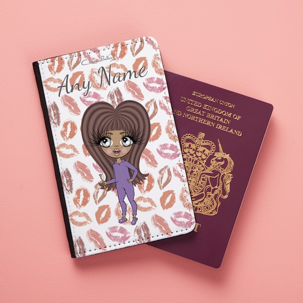 ClaireaBella Girls Lip Print Passport Cover - Image 2
