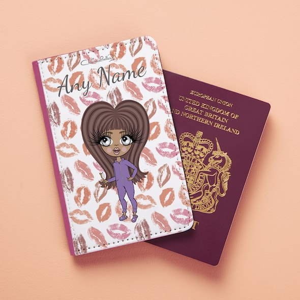 ClaireaBella Girls Lip Print Passport Cover - Image 3