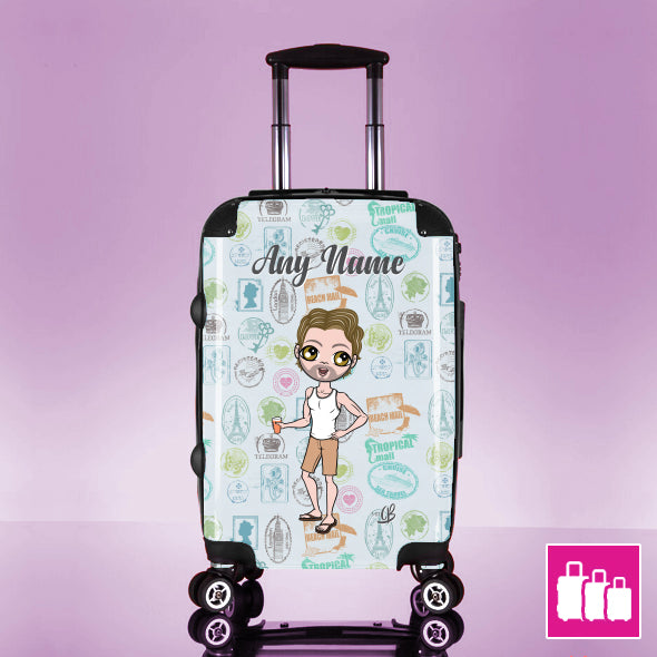 MrCB Travel Stamp Suitcase - Image 1
