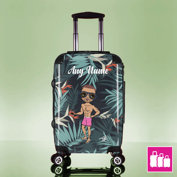MrCB Tropical Print Suitcase - Image 1
