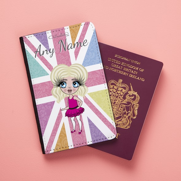 ClaireaBella Girls Union Jack Passport Cover - Image 1