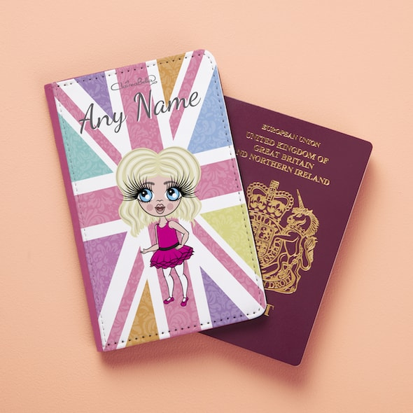 ClaireaBella Girls Union Jack Passport Cover - Image 2