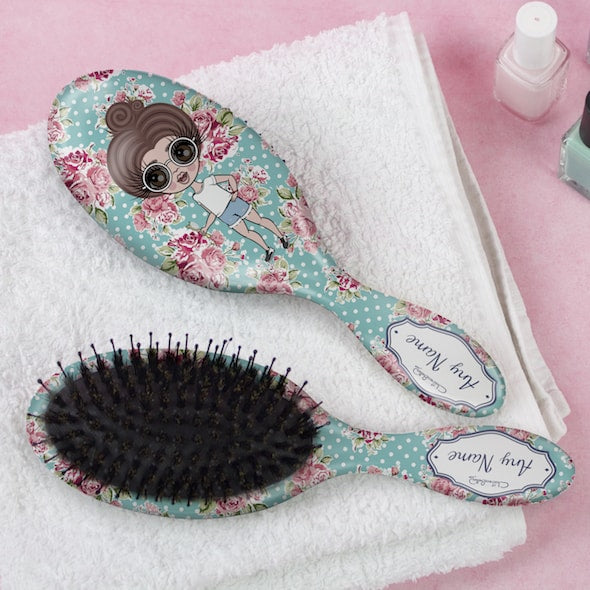 ClaireaBella Girls Rose Hair Brush - Image 1
