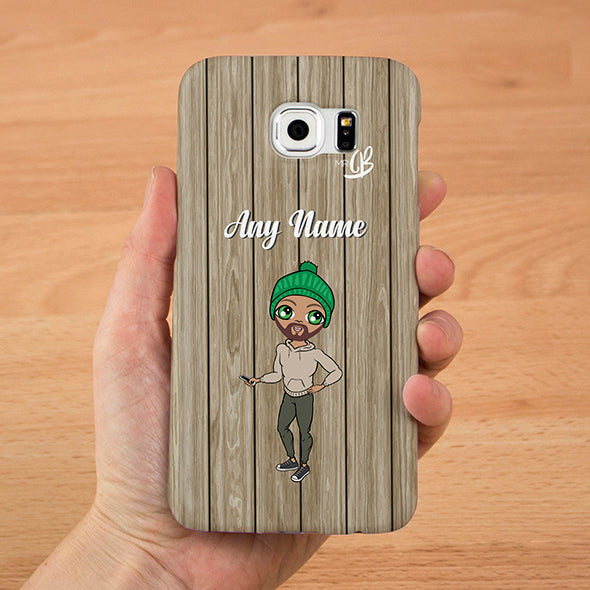 MrCB Personalised Wood Grain Phone Case - Image 1
