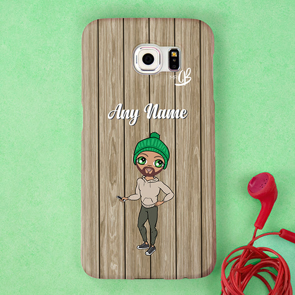 MrCB Personalised Wood Grain Phone Case - Image 4