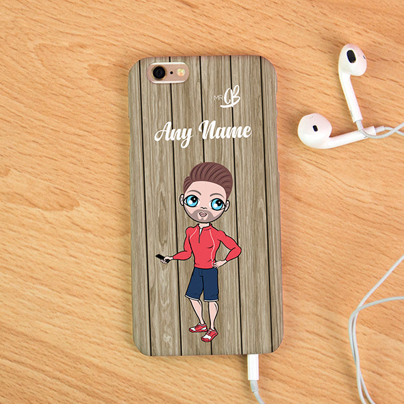 MrCB Personalised Wood Grain Phone Case - Image 3