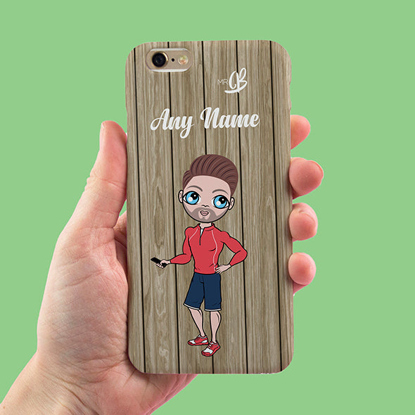 MrCB Personalised Wood Grain Phone Case - Image 2