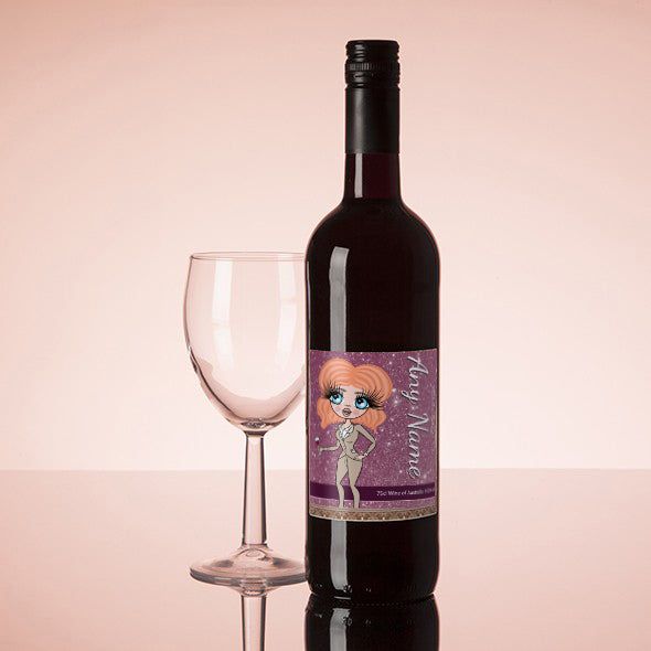ClaireaBella Personalised Red Wine - Glitter Effect - Image 1