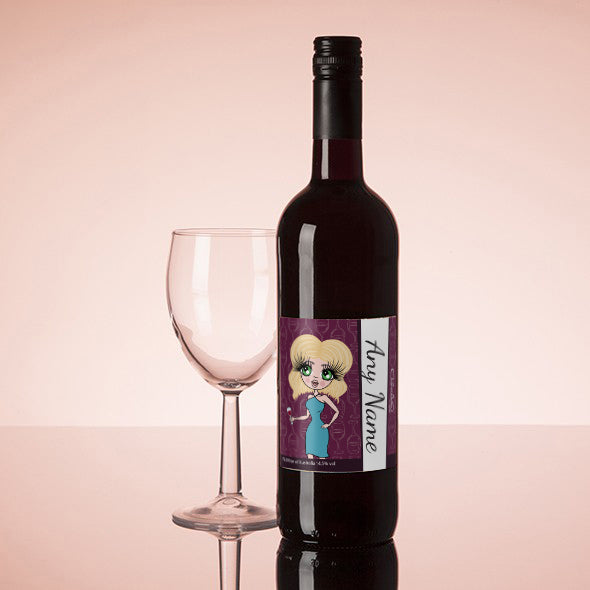 ClaireaBella Personalised Red Wine - Wine Glass - Image 1