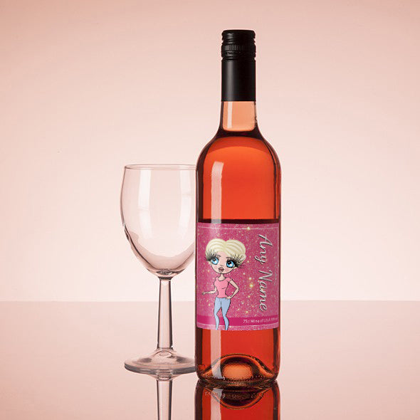 ClaireaBella Personalised Rosé Wine - Glitter Effect - Image 1