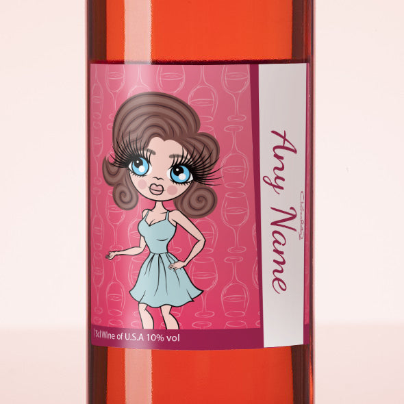 ClaireaBella Personalised Rosé Wine - Wine Glass - Image 2