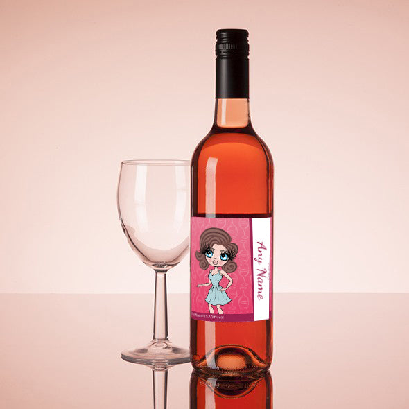 ClaireaBella Personalised Rosé Wine - Wine Glass - Image 1