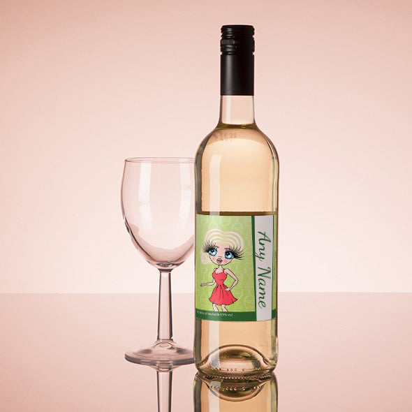 ClaireaBella Personalised White Wine - Wine Glass - Image 1