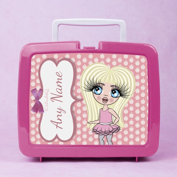 ClaireaBella Girls Polka Dot Apple Lunch Box - Image 1
