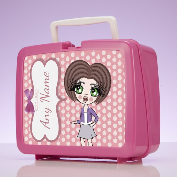 ClaireaBella Girls Polka Dot Apple Lunch Box - Image 2