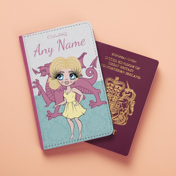 ClaireaBella Welsh Flag Passport Cover - Image 2