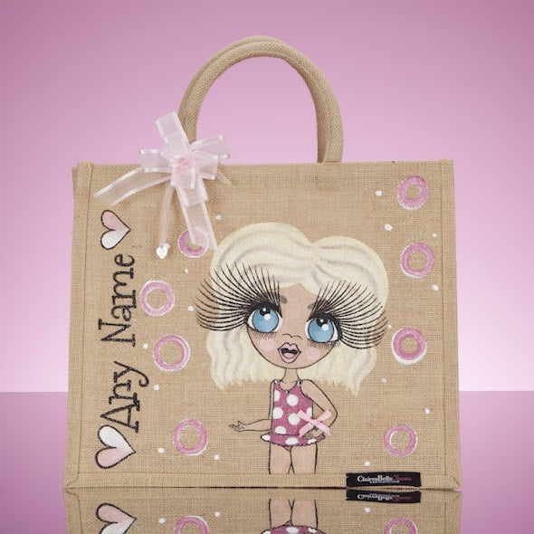 ClaireaBella Girls Large Holiday Jute Bag - Image 1