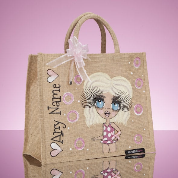 ClaireaBella Girls Large Holiday Jute Bag - Image 2