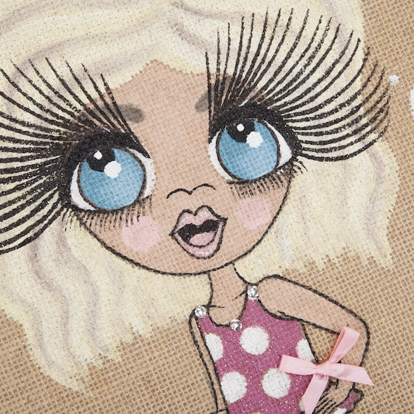 ClaireaBella Girls Large Holiday Jute Bag - Image 3