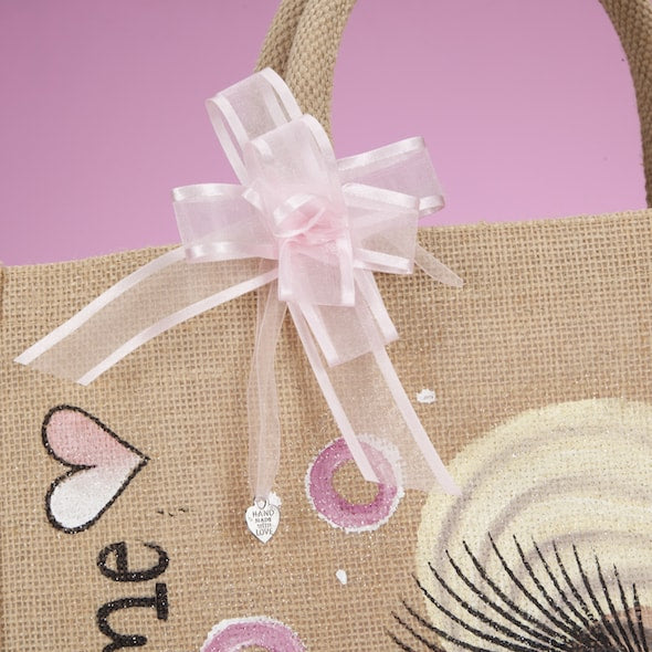 ClaireaBella Girls Large Holiday Jute Bag - Image 4