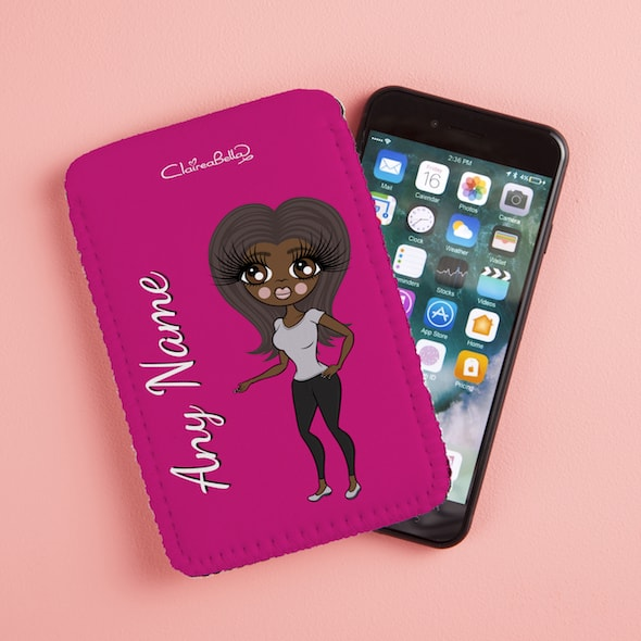 ClaireaBella Hot Pink Fabric Phone Case - Image 1