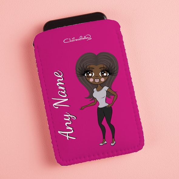 ClaireaBella Hot Pink Fabric Phone Case - Image 3