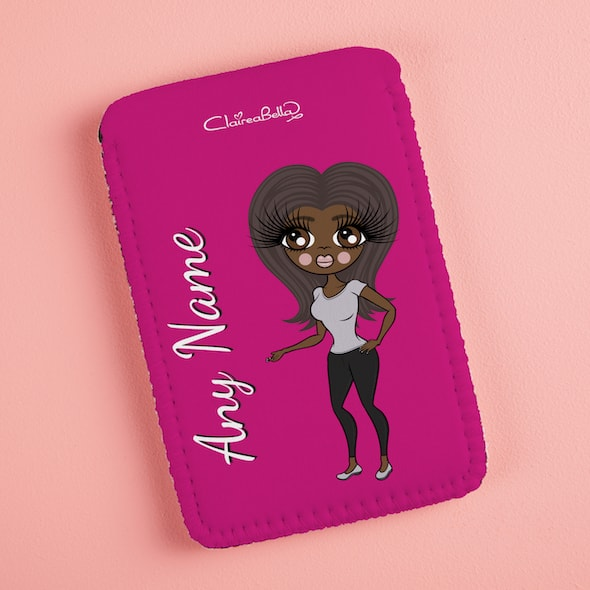 ClaireaBella Hot Pink Fabric Phone Case - Image 5