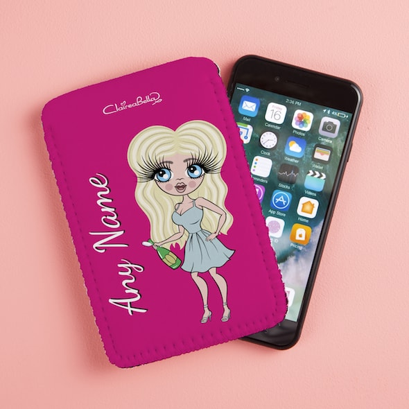 ClaireaBella Hot Pink Fabric Phone Case - Image 4