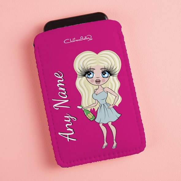 ClaireaBella Hot Pink Fabric Phone Case - Image 2