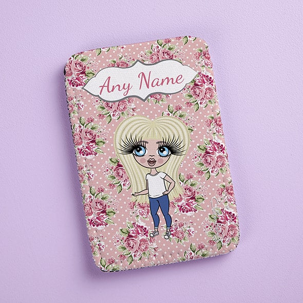 ClaireaBella Girls Pink Rose Fabric Phone Case - Image 4