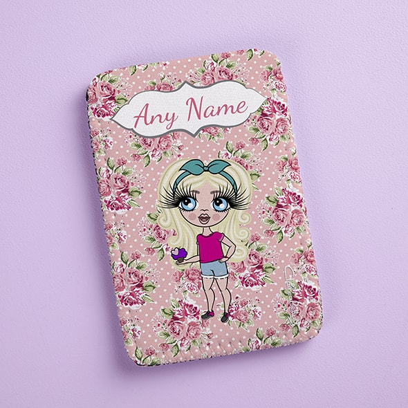ClaireaBella Girls Pink Rose Fabric Phone Case - Image 2