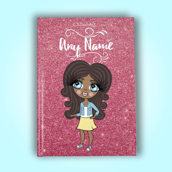 ClaireaBella Girls A5 Hardback Diary - Glitter Effect - Image 1