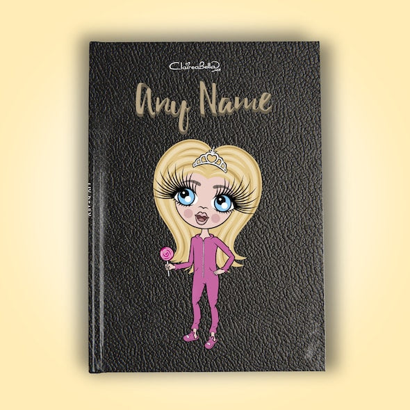 ClaireaBella Girls A5 Hardback Diary - Black Texture - Image 1