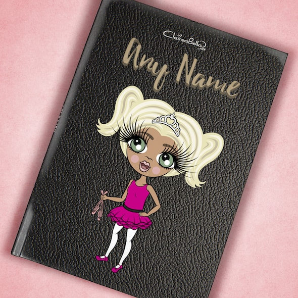 ClaireaBella Girls A5 Hardback Diary - Black Texture - Image 6
