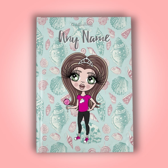 ClaireaBella Girls A5 Hardback Diary - Sea Shell - Image 1