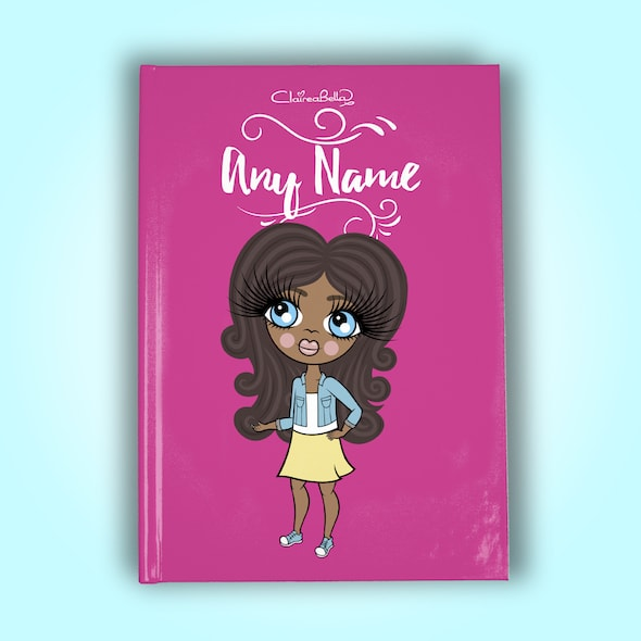 ClaireaBella Girls A5 Hardback Diary - Hot Pink - Image 1