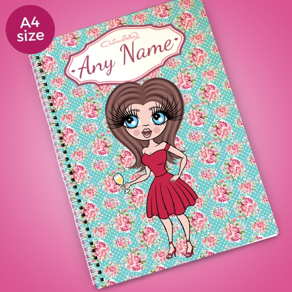 ClaireaBella Rose A4 Softback Notebook - Image 1