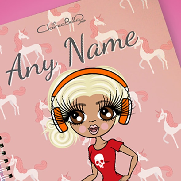 ClaireaBella Unicorn A4 Softback Notebook - Image 2