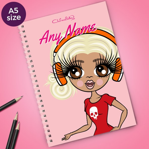 ClaireaBella Close Up A5 Softback Notebook - Image 1